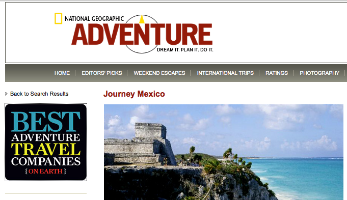 National Geographic Traveler Best Tour Companies