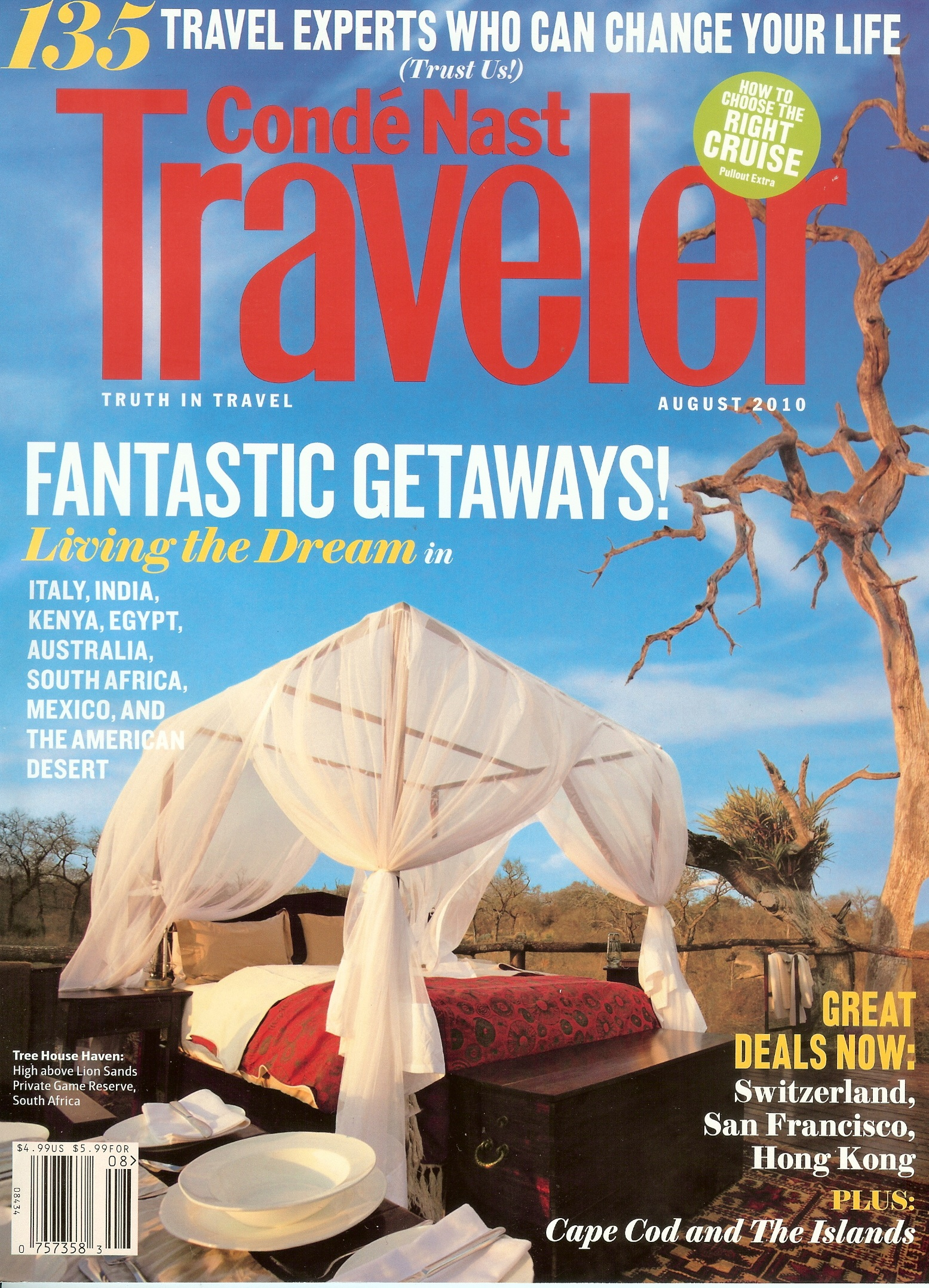 Conde Nast Traveler World's Tops Specialists Cover